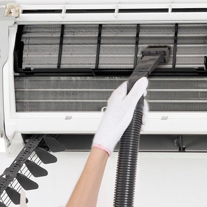 støvsuging av varmepumpe